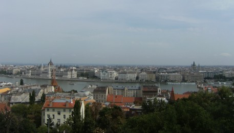 Budapest view Buda Castle Fishermen's Bastion Parliament Pest | Bean Abroad Travel Blog